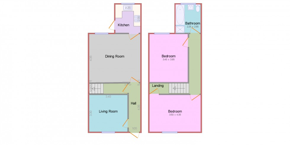 Floorplan for Scarsdale Street, Bolsover, Chesterfield