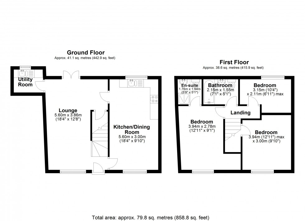 Floorplan for Castle Way, Willington